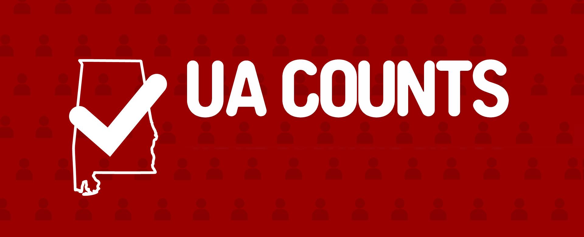 UA Counts Website Header